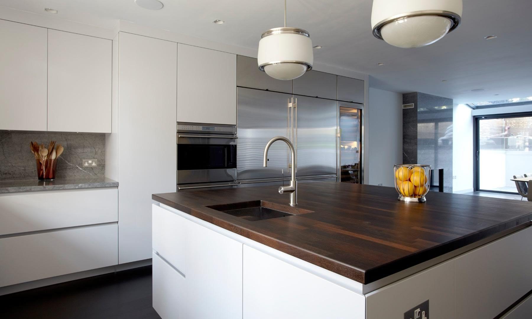 Cucina moderna / in legno / in laminato / con isola - HOLLAND PARK ...