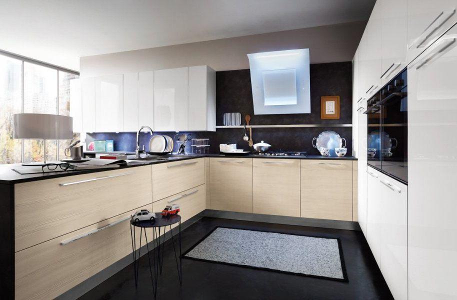 Cucina moderna / impiallacciata in legno / a U - SLIM - Gicinque