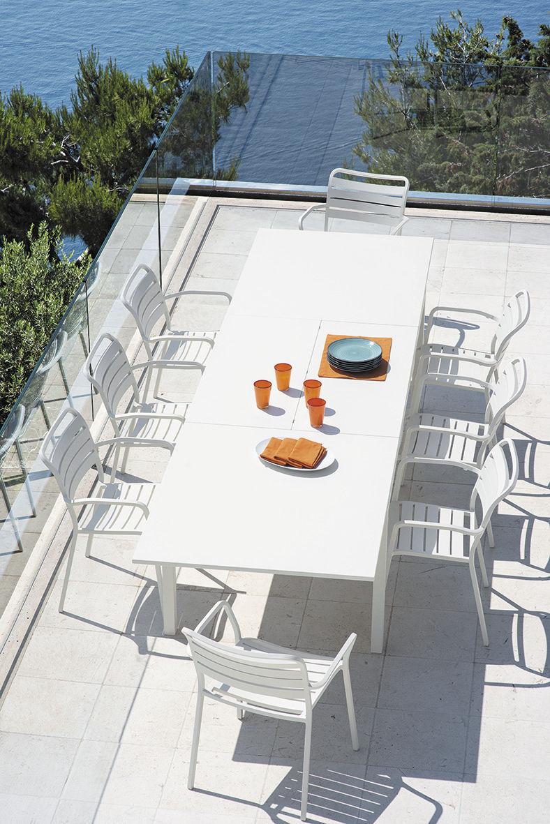Sedia da pranzo / moderna / in alluminio / con braccioli   ocean ...