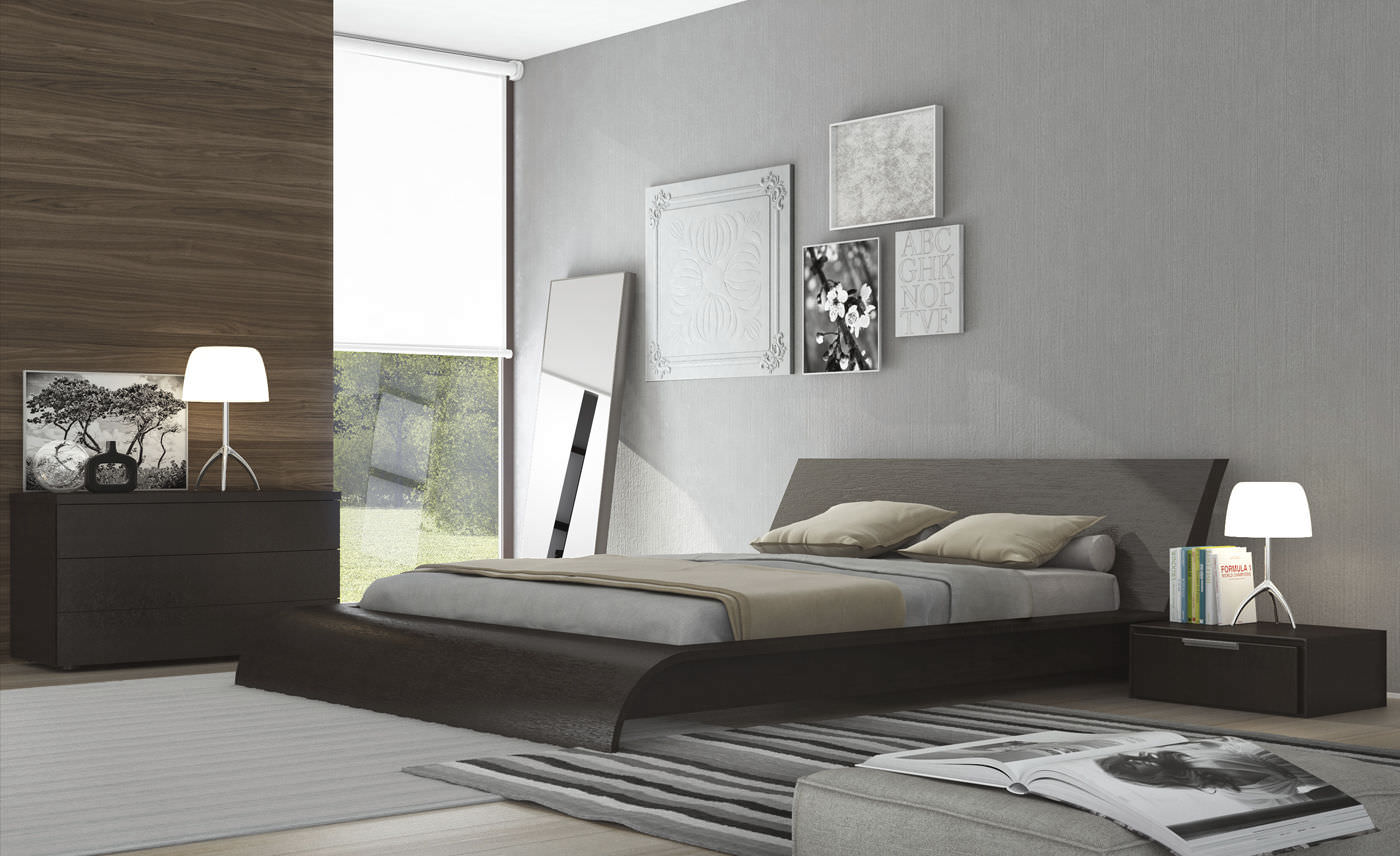 Letto matrimoniale / moderno / in legno - WAVERLY - QUEEN - MODLOFT