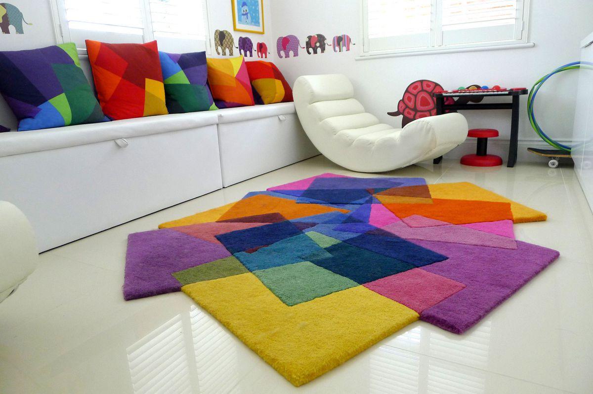 Tappeto Moderno Turchese : Tappeto moderno a motivi in lana della nuova zelanda