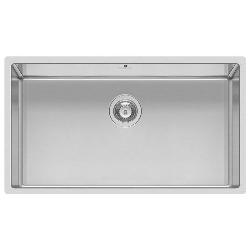 Lavello a 1 vasca / in acciaio inox - SQUARE 720 R14 - ELLECI