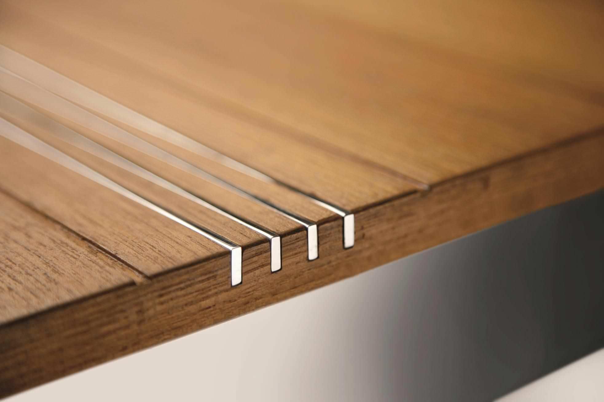 Tavolo moderno / in teak / rettangolare / da giardino - QUI PACK ...