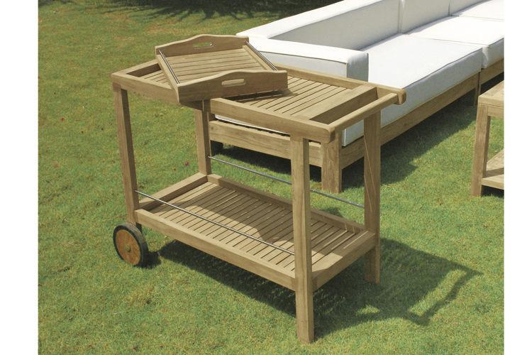 Carrello portavivande da giardino / per uso residenziale / in legno ...