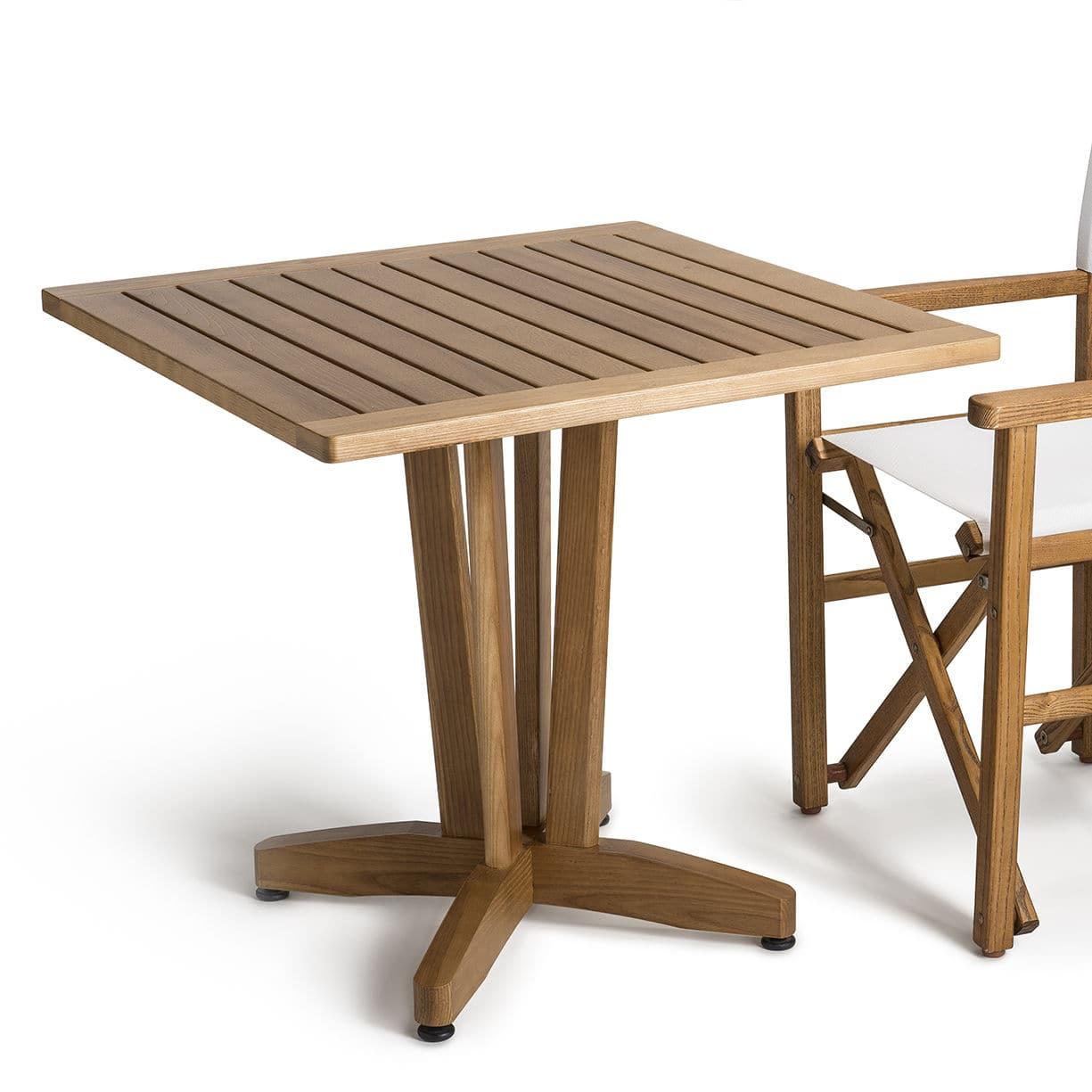 Tavolo moderno / in legno / quadrato / per edifici pubblici ...