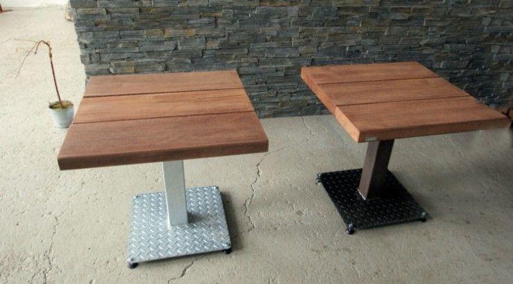 Favorito Tavolo da bistrot moderno / in legno / in acciaio / quadrato  WL93