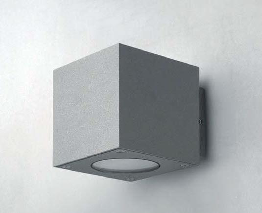 Applique moderna da esterno in ghisa di alluminio led cubox