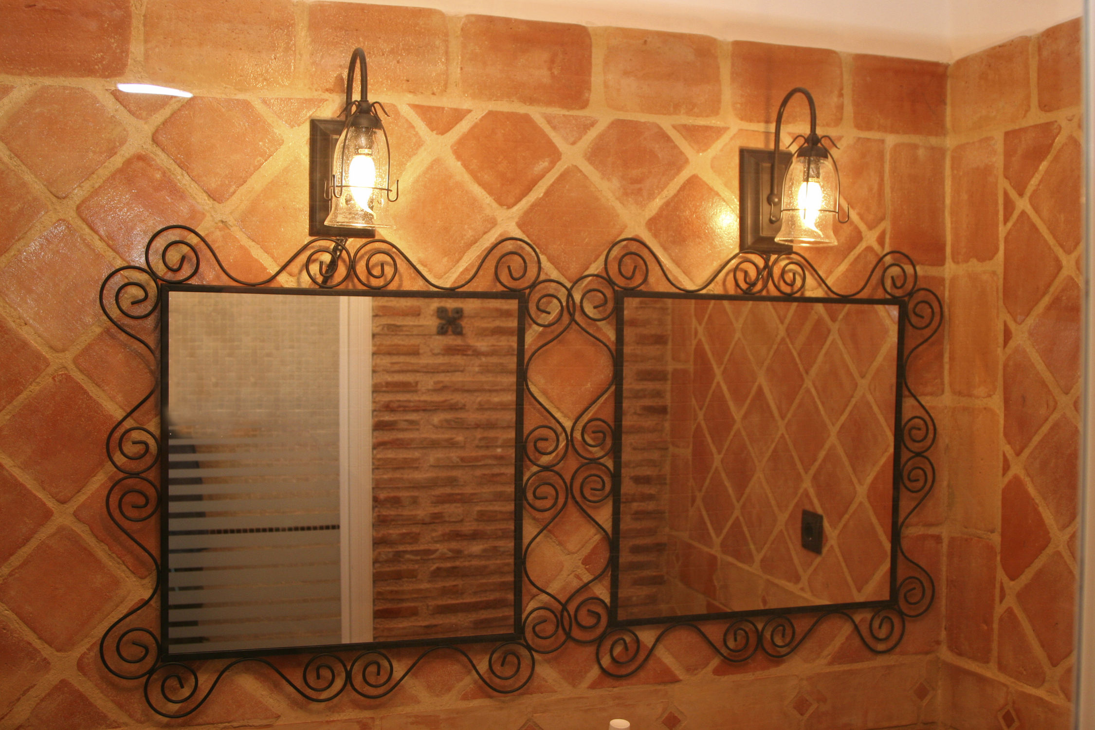 Piastrella da interno da bagno da parete in terracotta