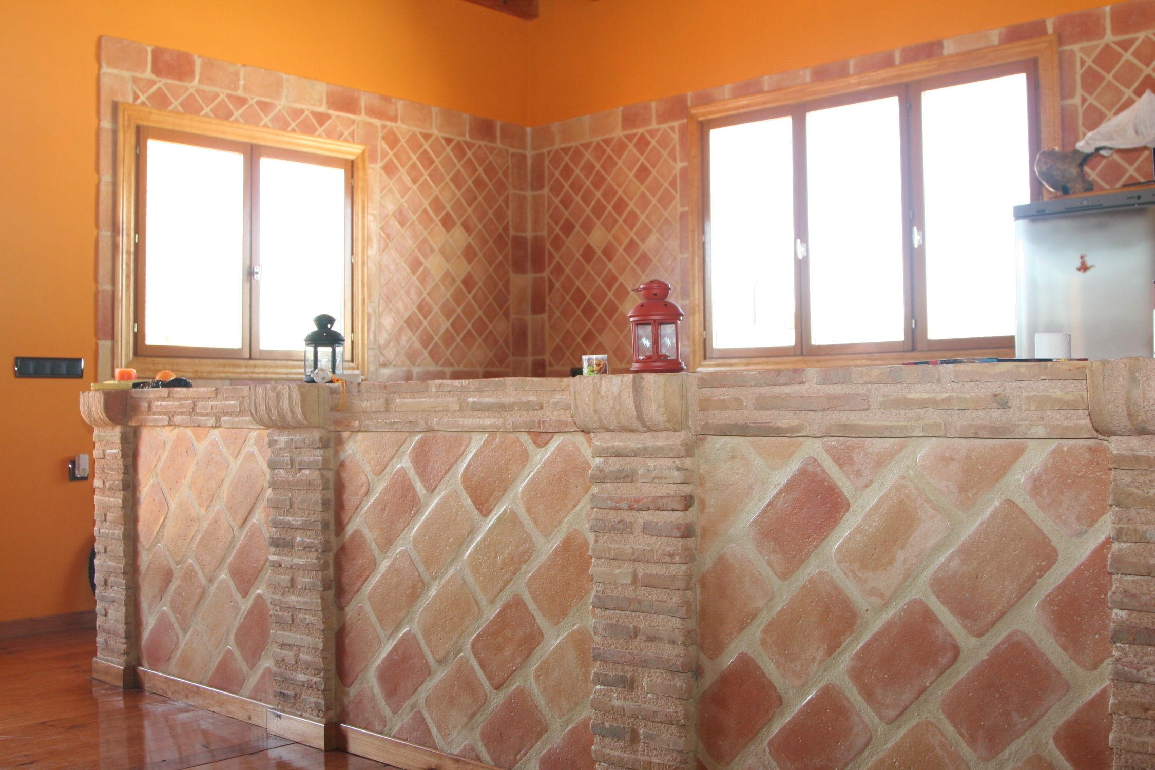 Piastrella da interno da parete in terracotta opaca