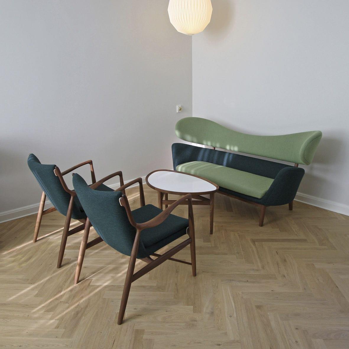 divano design scandinavo / in lana / in teak / in noce - baker
