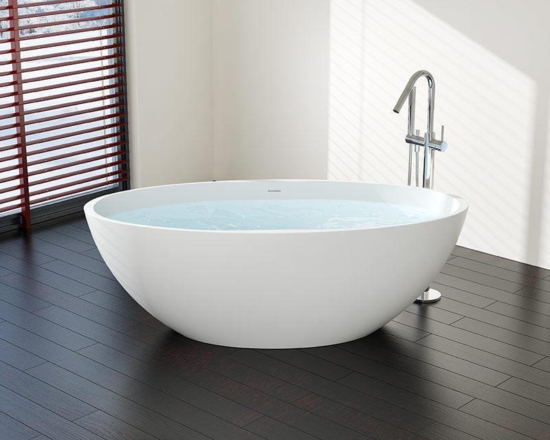 Vasca Da Bagno Ghisa Prezzi : Vasca da bagno ad isola ovale ghisa minerale bw 04 xl