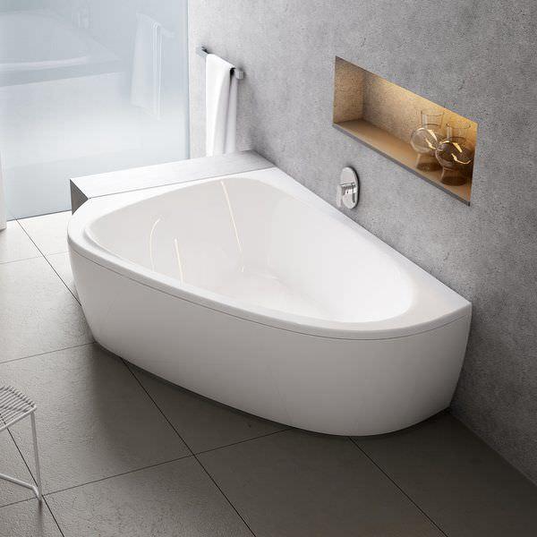 Vasca da bagno d\'angolo / in acrilico - LOVESTORY II - RAVAK
