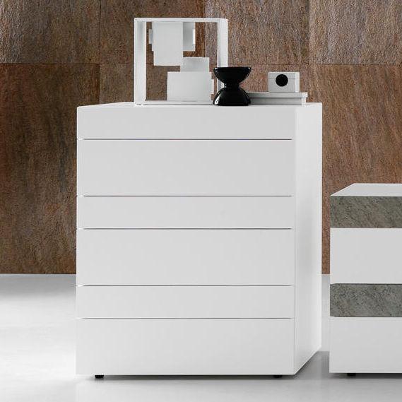 Cassettiera moderna / in quercia / in legno laccato / bianca ...