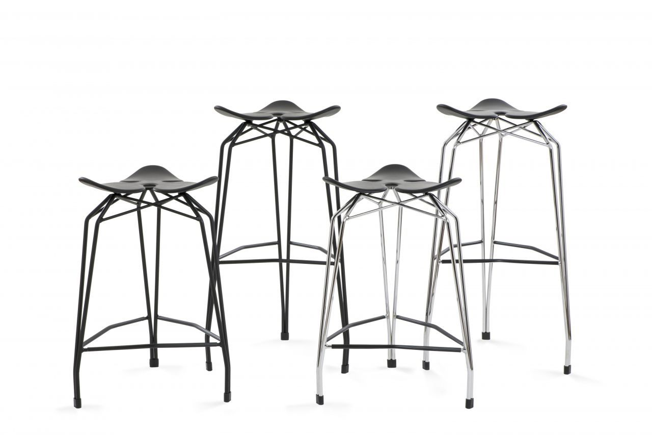Sgabello da bar moderno diamond bar stool by stolt design kubikoff