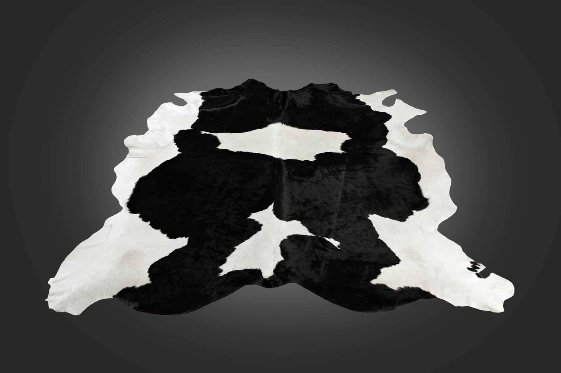 Tappeto moderno / a motivi / in pelle di mucca / rettangolare ...