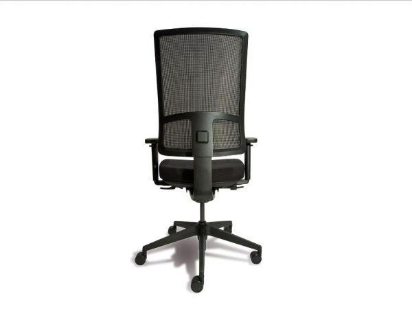 Sedia da ufficio moderna imbottita con rotelle ergonomica