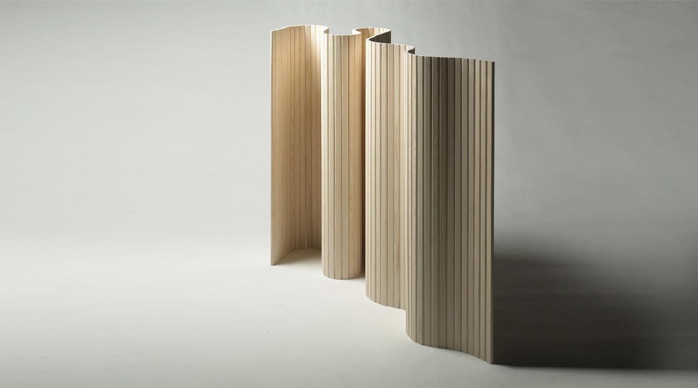 Paravento moderno / in legno / da sala / nero - by Jørgen Møller ...