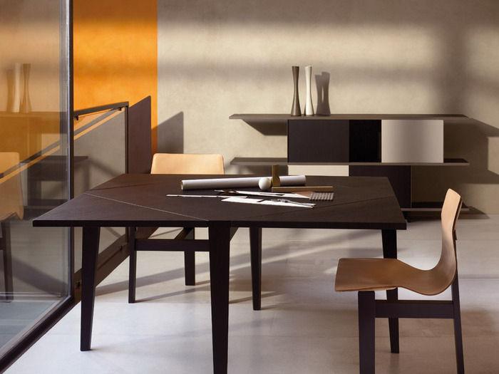 Tavolo Moderno / In Legno / Quadrato / Allungabile   MANGIAROTTI :  QUATTROTTO