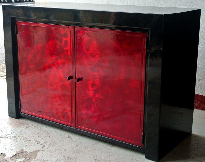 Credenza Moderna Rossa : Credenza moderna in acciaio su misura rossa loft terre et