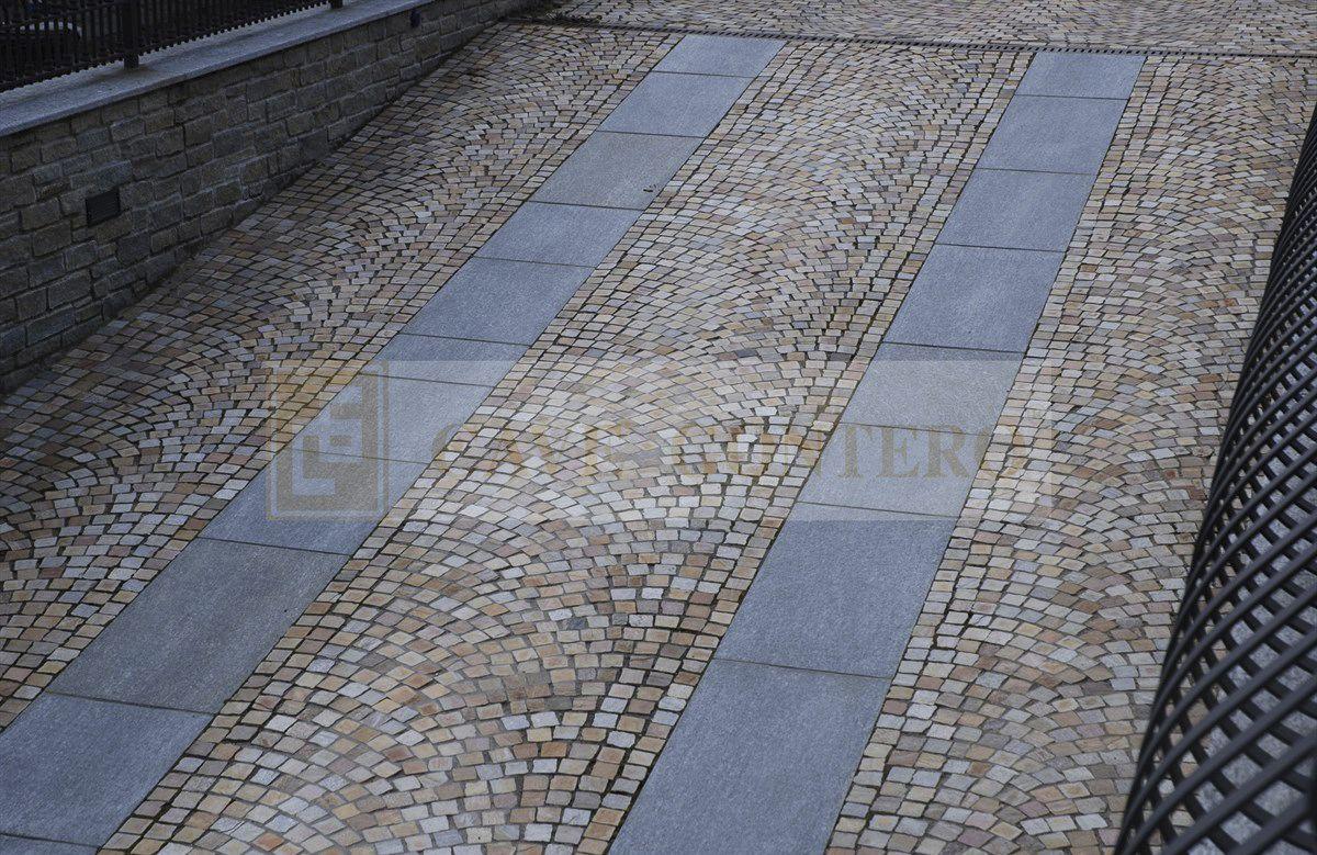 Pavimentazione in quarzite resistente al gelo carrabile per