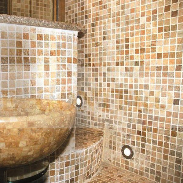 Favoloso Mosaico da interno / da bagno / da pavimento / in pietra naturale  XJ35