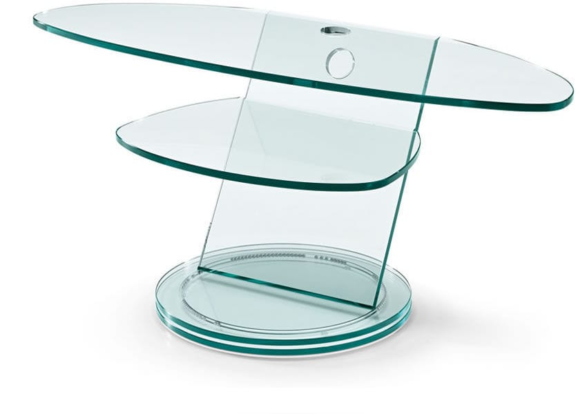 Mobile porta TV moderno / in vetro - SCENARIO by Isao Hosoe ...