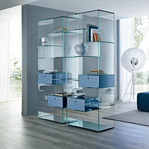 Libreria moderna / in legno / in vetro - LIBER by Luca Papini ...