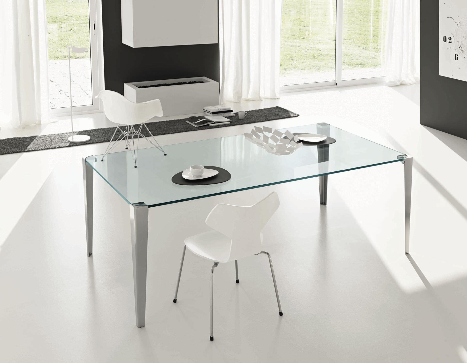 Tavolo moderno / in vetro / rettangolare / da interno   stratos ...