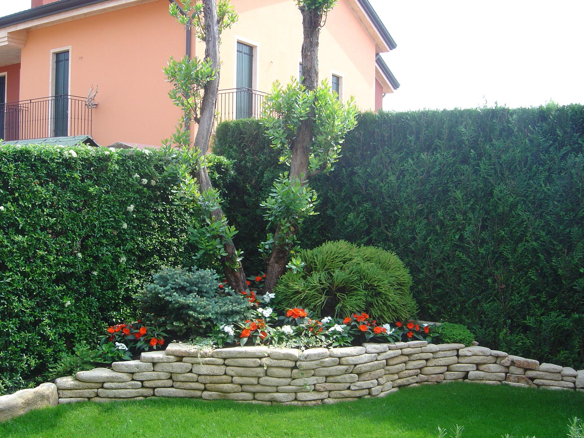 abbastanza Bordura da giardino / in pietra naturale / rettangolare - Un Mondo  RK28