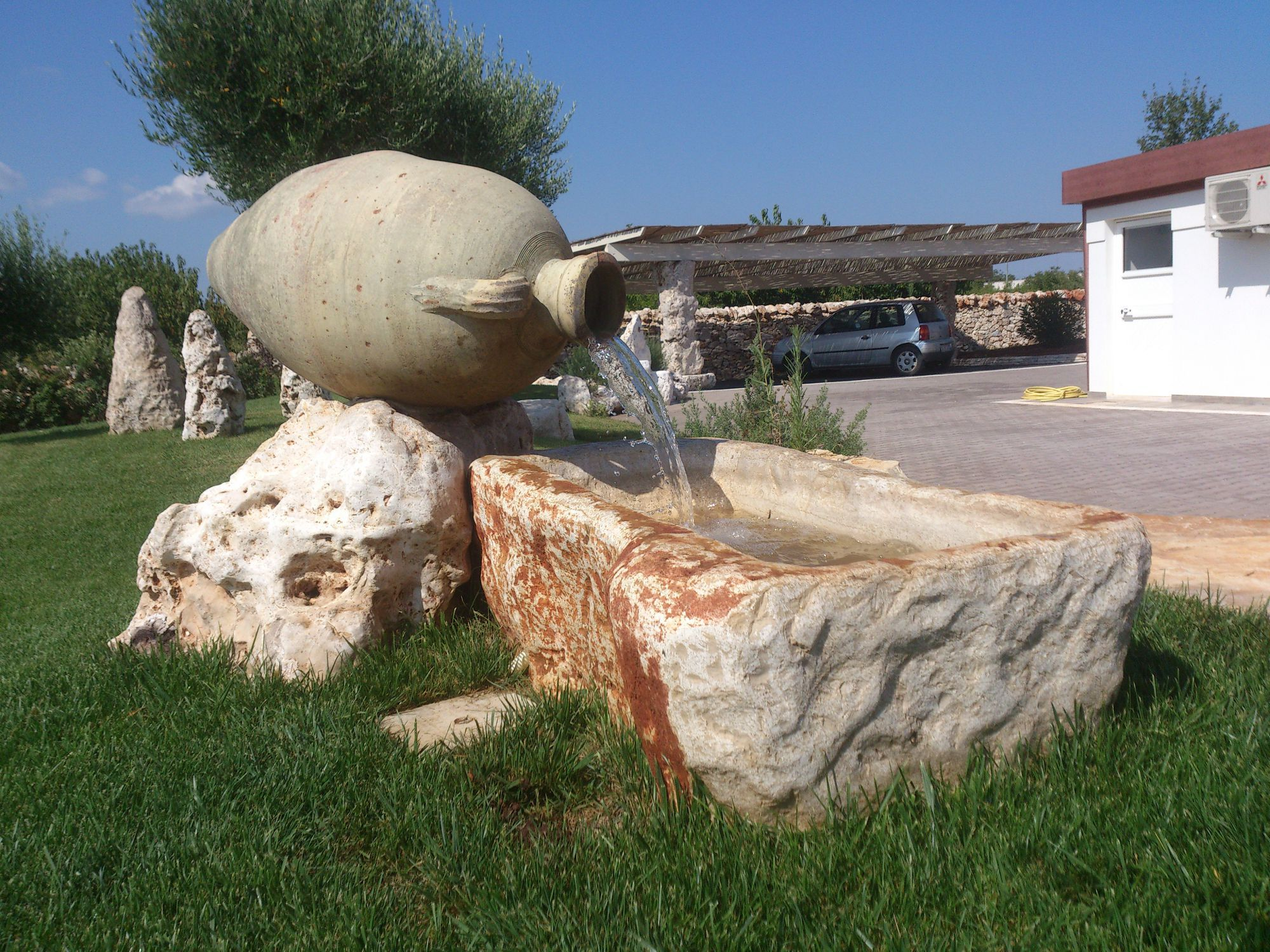 Fontana Giardino Pietra : Fontana da giardino pubblica in pietra naturale un mondo in pietra