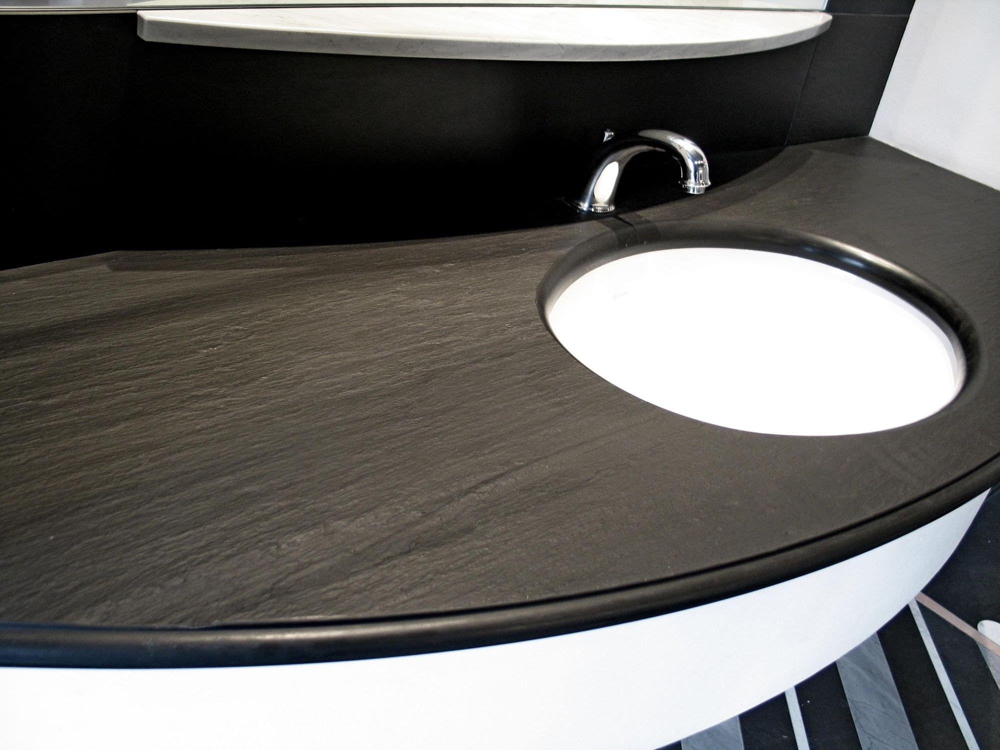 Piano Bagno In Ardesia : Piano lavabo in pietra naturale su misura bathroom top italian