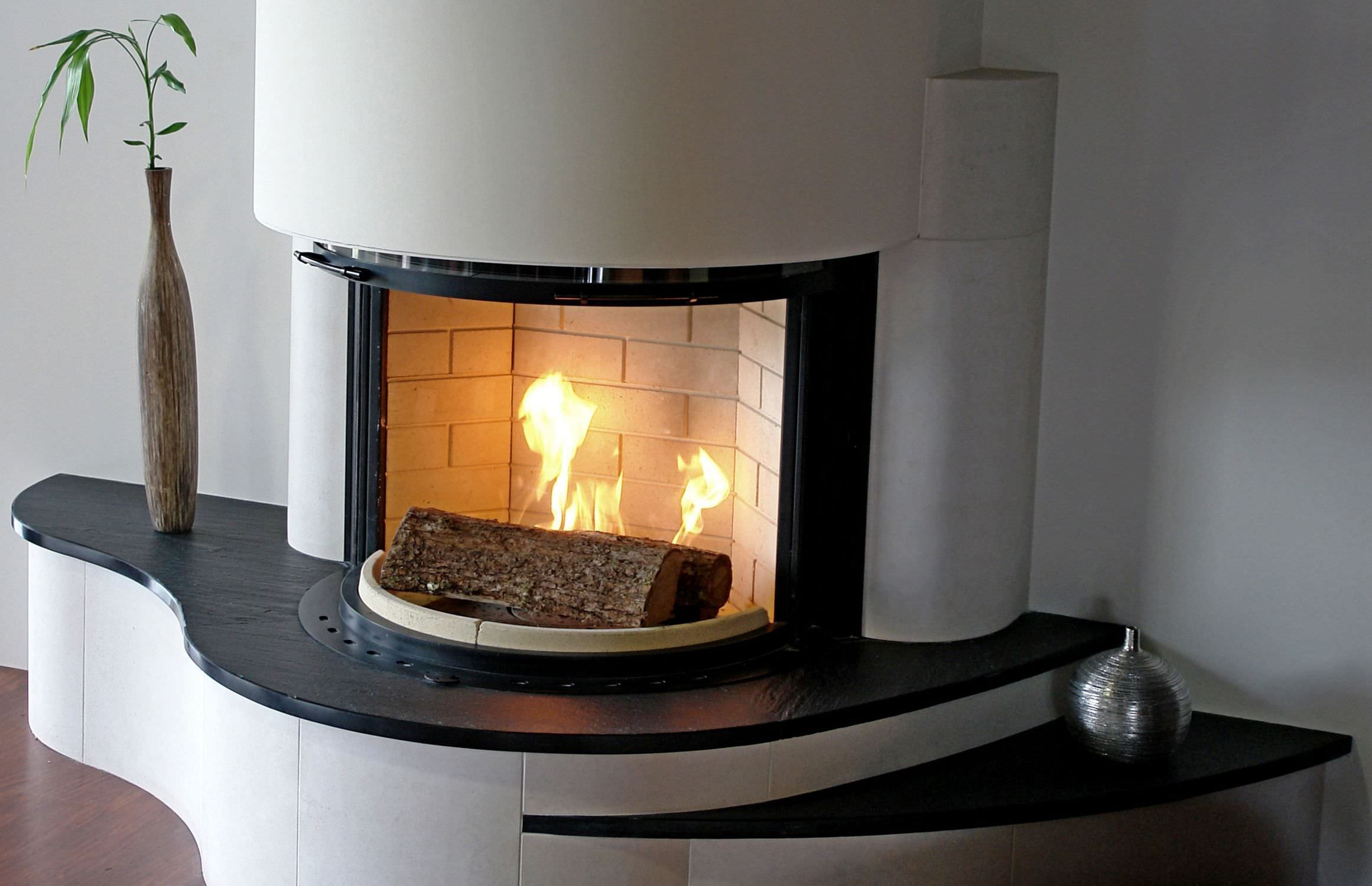Rivestimento Per Camini Moderno In Ardesia Fireplace In Italian