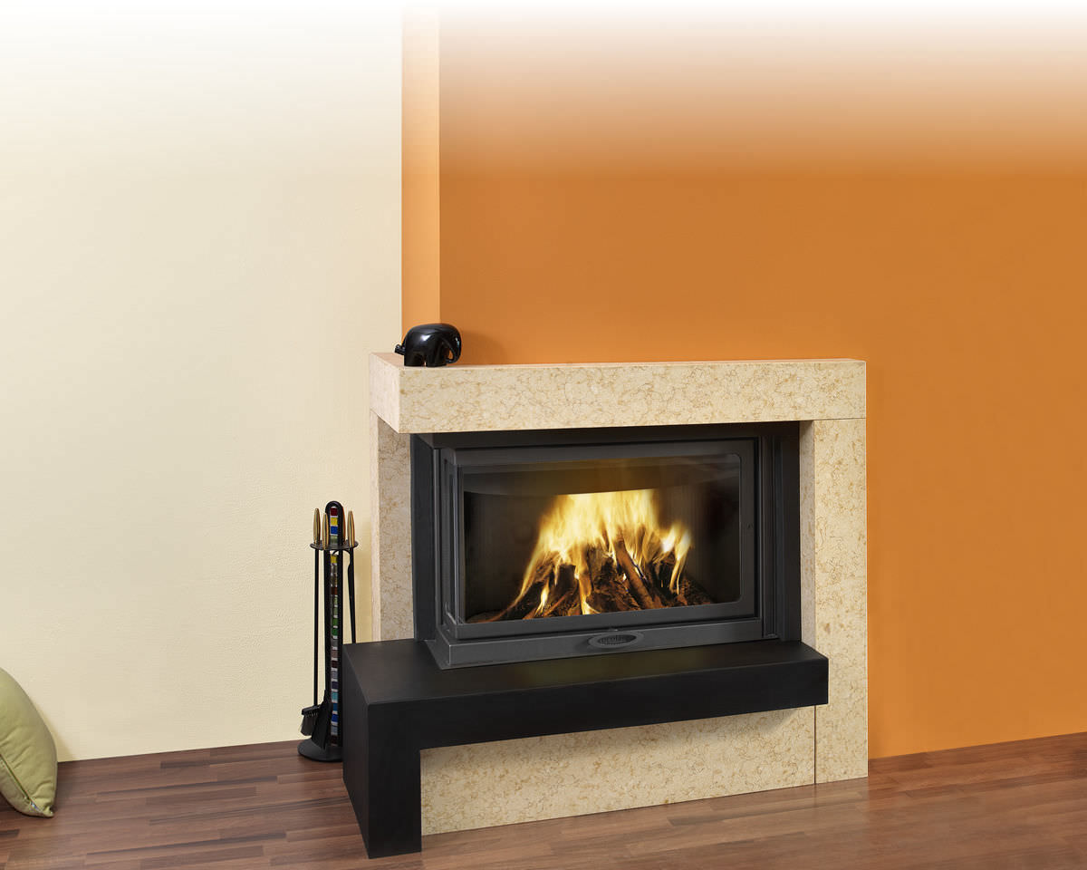 Rivestimento per camini moderno in ardesia fireplace in