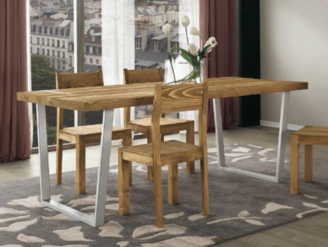 Tavolo da pranzo moderno / in legno / in metallo / rettangolare ...