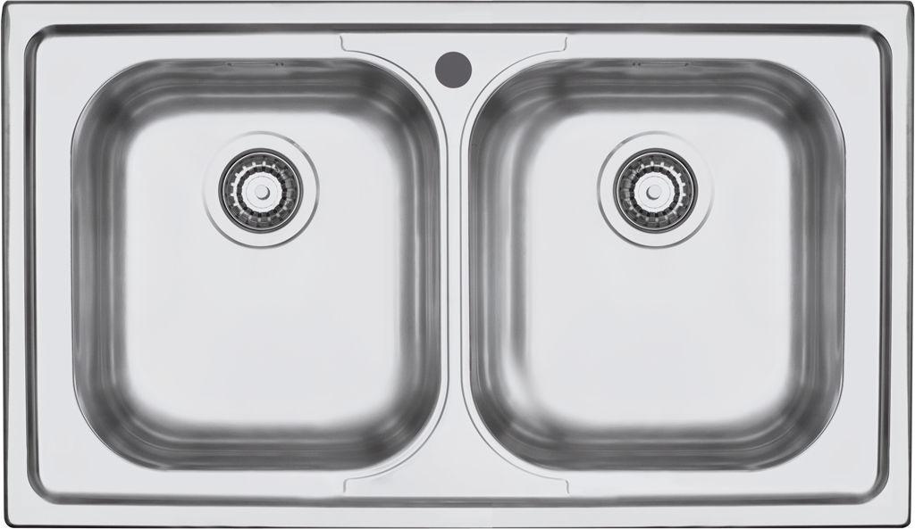 Lavello a 2 vasche / in acciaio inox - 1LFS92 - F.lli Barazza Srl