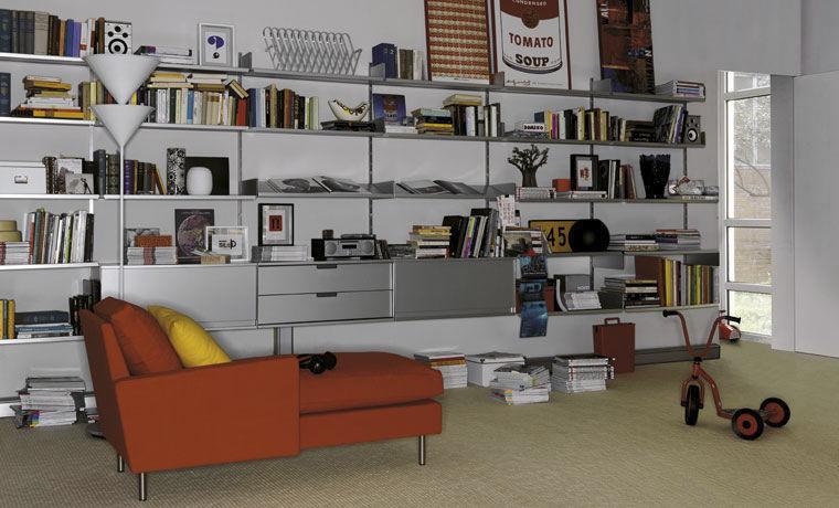 Scaffale moderno / in alluminio / professionale - 606 by Dieter Rams ...