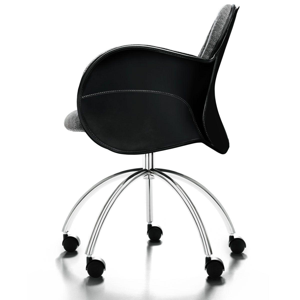 Sedie Da Ufficio Con Rotelle : Sedia da ufficio moderna con rotelle girevole in tessuto