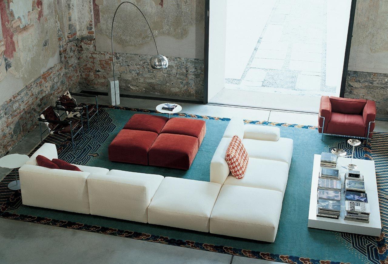 Divano modulare / d\'angolo / moderno / in tessuto - 271 MEX CUBE ...
