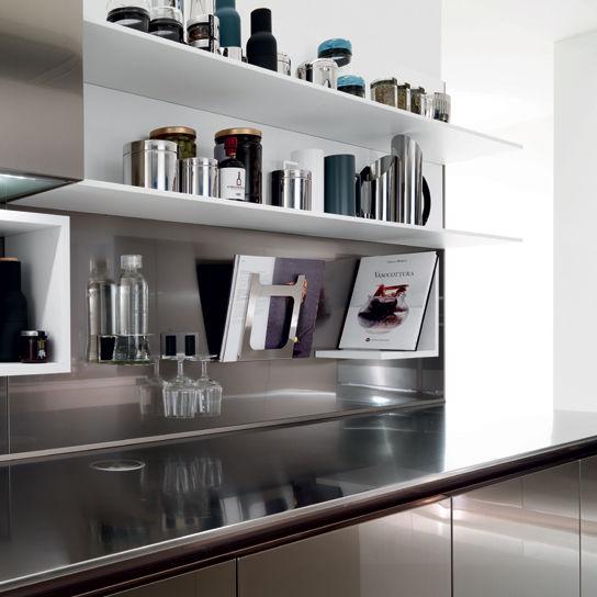 Boiserie Da Cucina : Mensola moderno in legno da cucina horizon euromobil spa