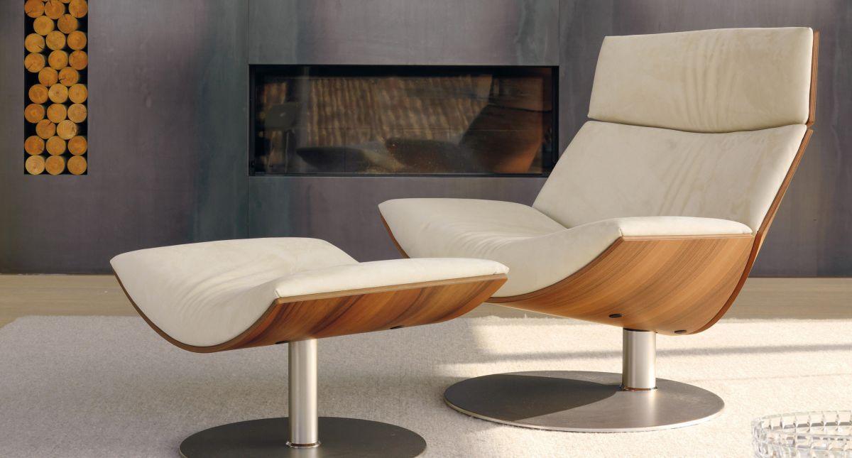 Chauffeuse moderna / in pelle / in legno / in metallo - KARA ...