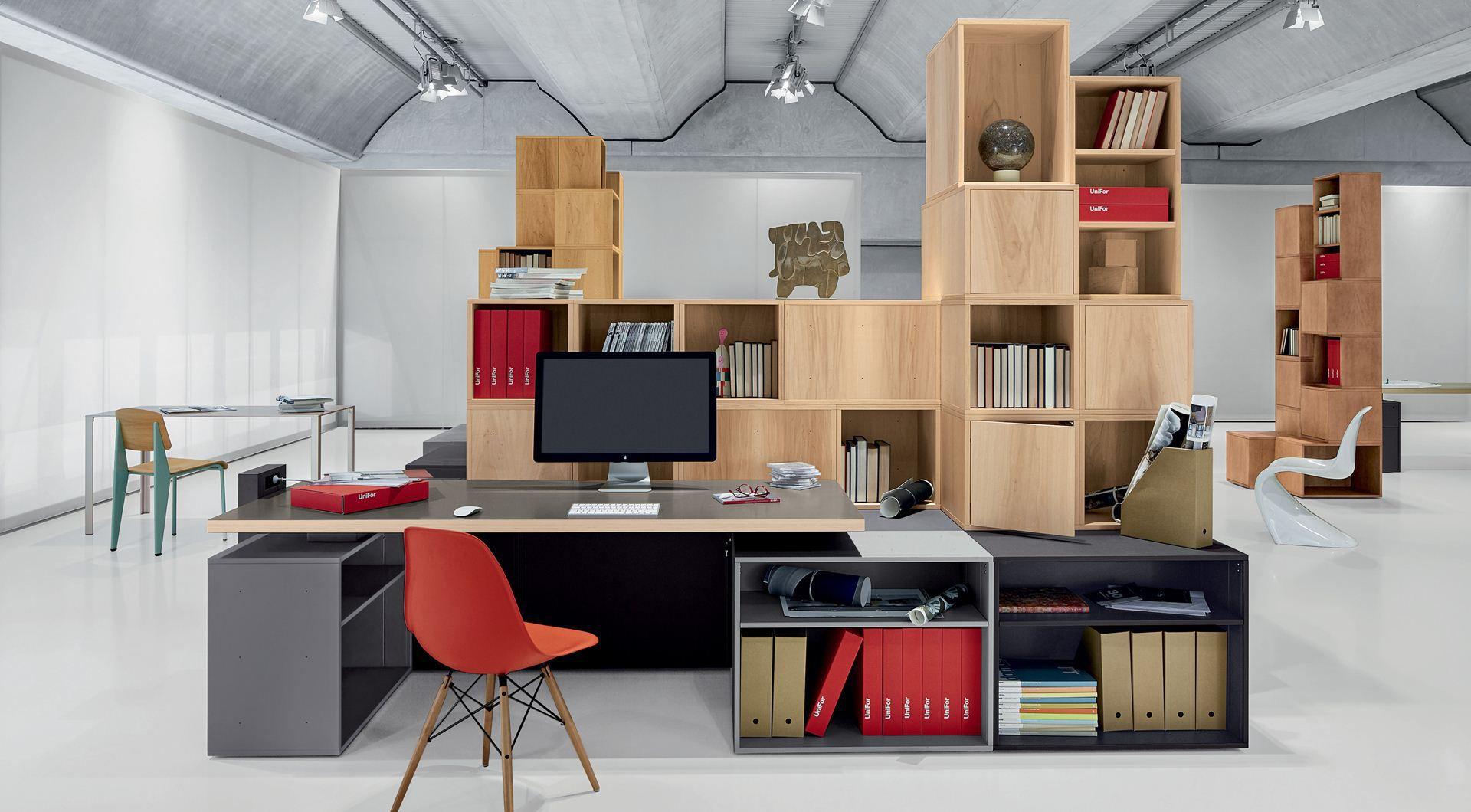 Libreria moderna / per ufficio / in legno / modulare - CASES by ...