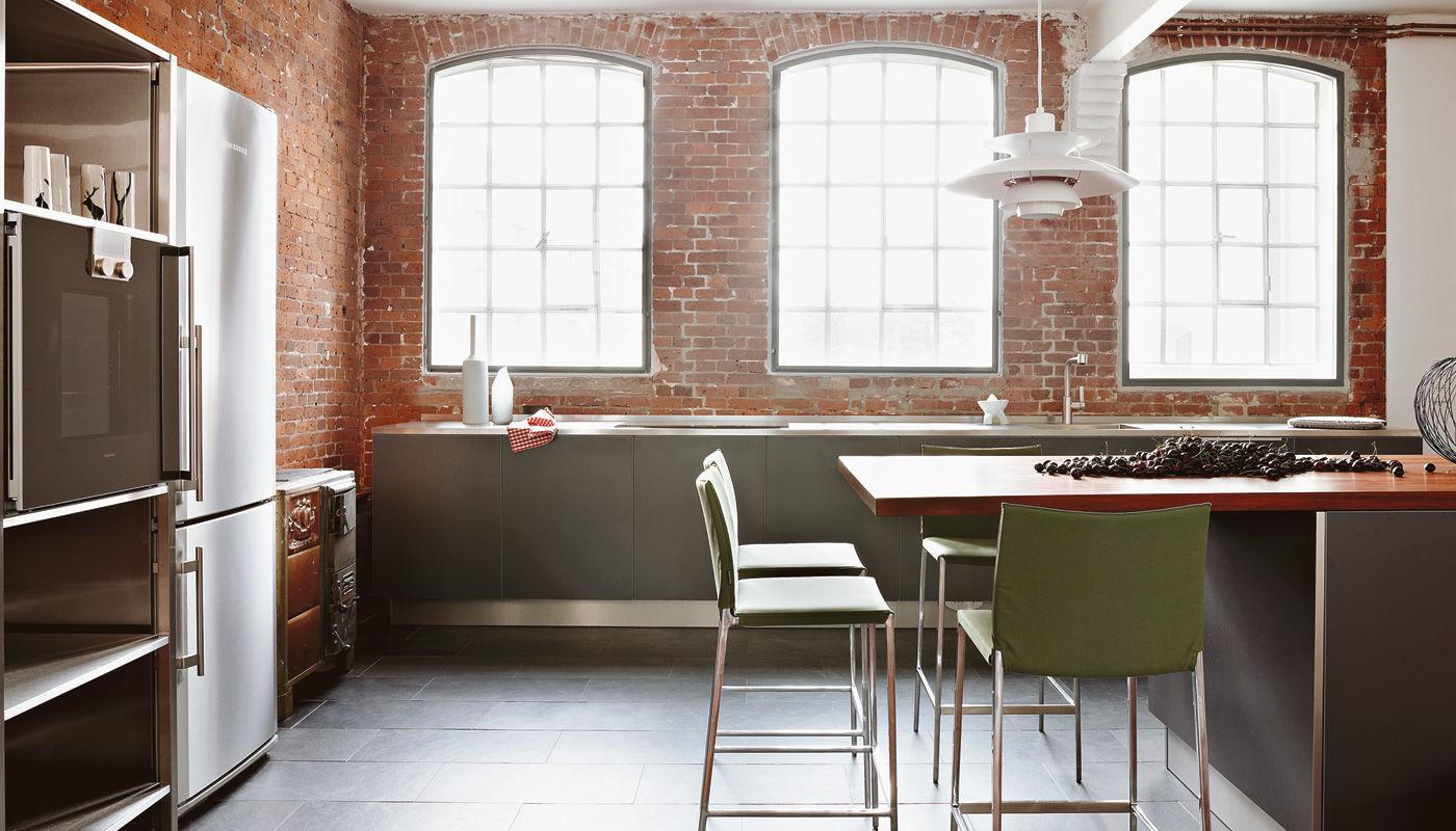 Cucina In Ciliegio Moderna : Cucina moderna in acciaio inox in laminato in ciliegio loft