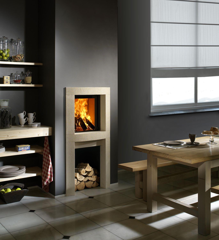 Cornice per camino moderna / in pietra - DS11-HP45 - Kal-fire