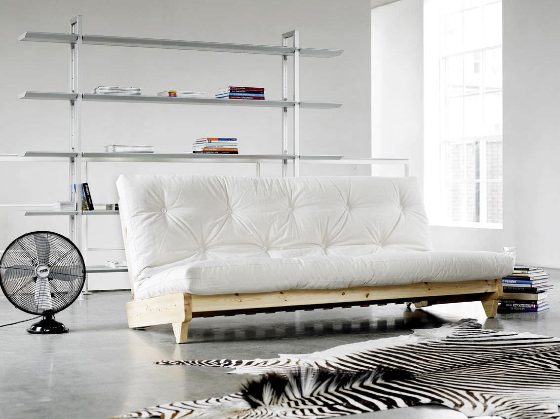 Divano letto moderno in legno posti fresh karup
