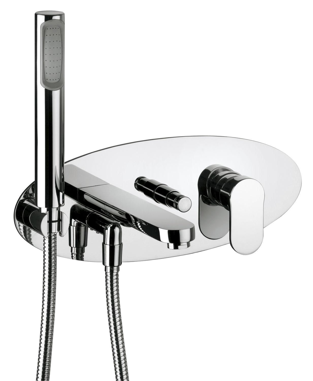 Miscelatore per vasca / da doccia / in metallo cromato / da bagno ...