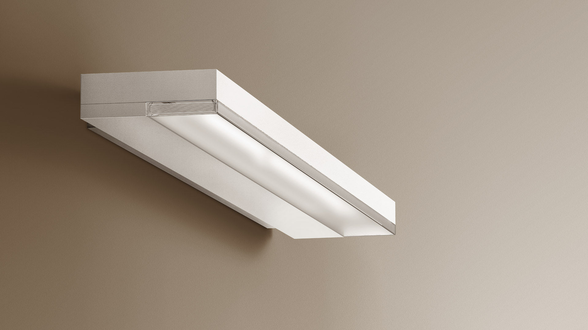 Applique moderna in alluminio in policarbonato led