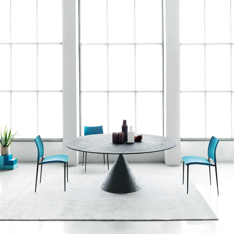 Tavolo Moderno / In Vetro / In Pietra Ricostituita / In Ceramica   CLAY