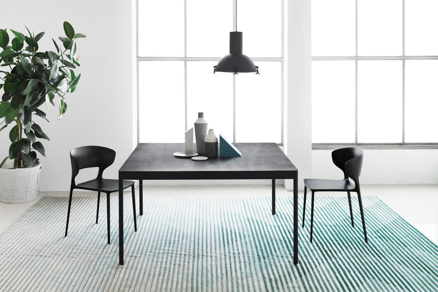 Tavolo moderno / in vetro / in ceramica / in acciaio   icaro 015 ...