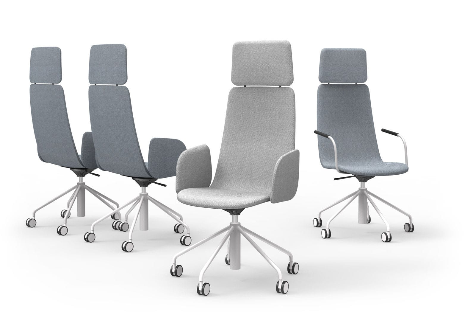 Sedie A Rotelle Schienale Alto : Sedia da conferenza moderno con rotelle con poggiatesta a