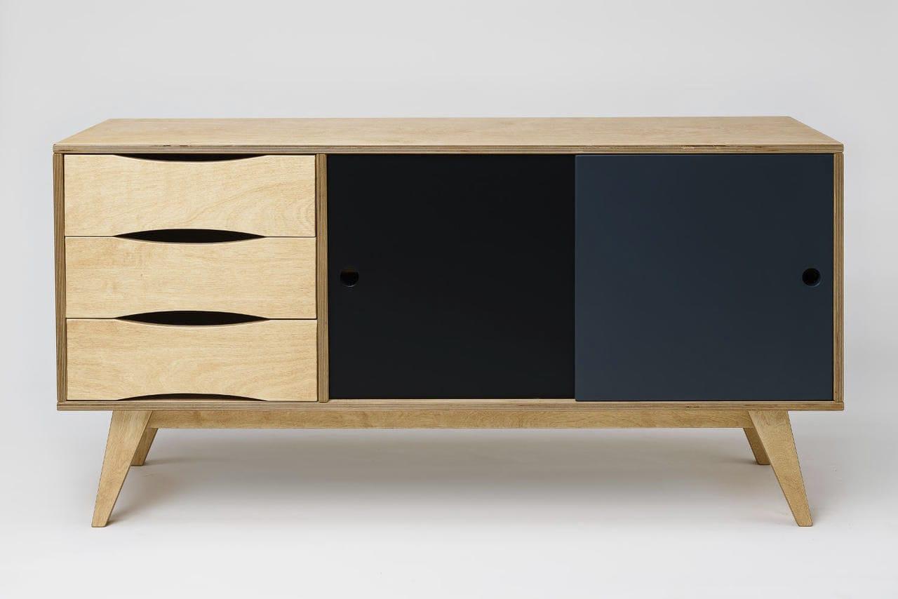 Credenza Moderna Profondità 40 : Credenza moderna in legno compensato faggio betulla